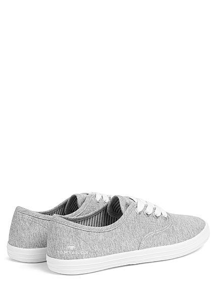 Tom Tailor Damen Schuh 2-Tone Canvas Sneaker jersey grau weiss