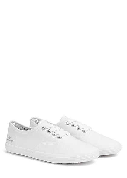 Tom Tailor Damen Schuh 2-Tone Canvas Sneaker weiss