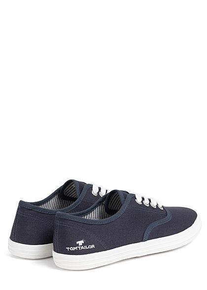 Tom Tailor Damen Schuh 2-Tone Canvas Sneaker navy blau weiss