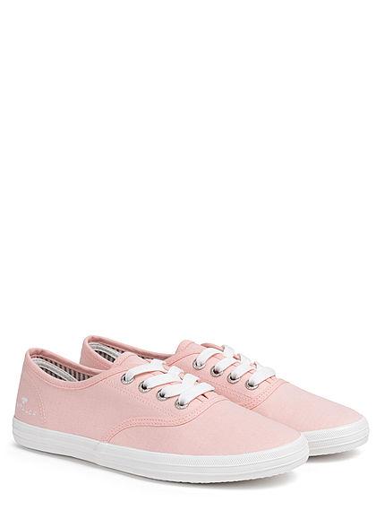 Tom Tailor Damen Schuh 2-Tone Canvas Sneaker brose rosa weiss
