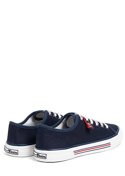 Tom Tailor Damen Schuh 3-Tone Canvas Sneaker navy rot weiss