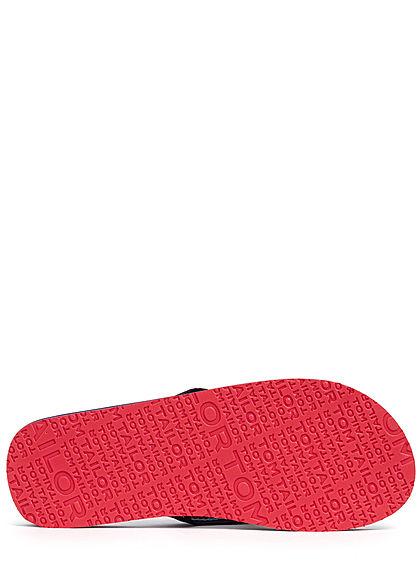 Tom Tailor Herren Schuh Badesandale mit Zehensteg navy blau rot