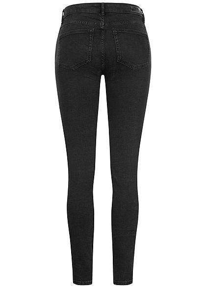ONLY Damen NOOS Skinny Jeans Hose 5-Pockets Regular Waist schwarz denim
