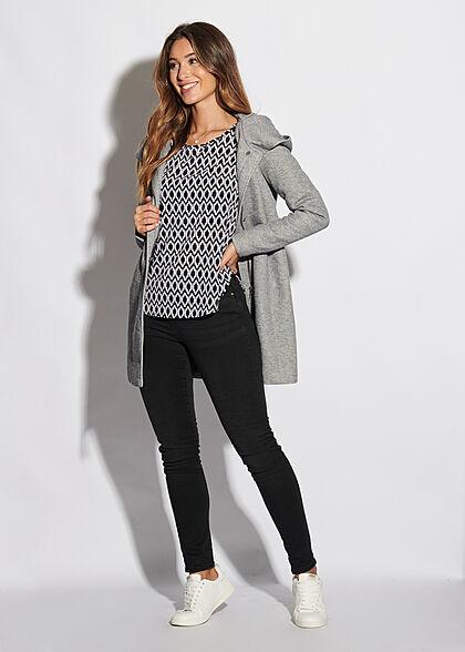 ONLY Damen NOOS Skinny Jeans Hose 5-Pockets Regular Waist schwarz denim