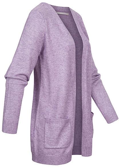 ONLY Damen NOOS Cardigan 2-Pockets offener Schnitt pastel lilac lila melange