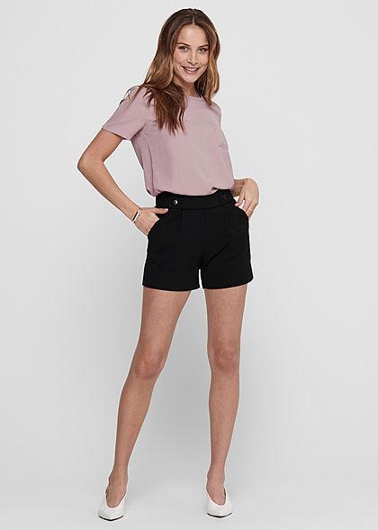 JDY by ONLY Damen NOOS Jersey Shorts mit elastischem Bund 2-Pockets schwarz