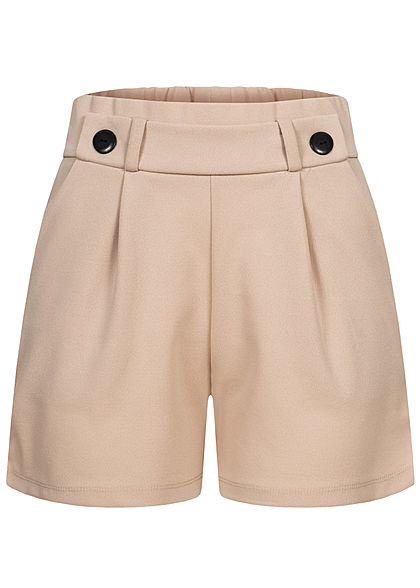 JDY by ONLY Damen NOOS Jersey Shorts mit elastischem Bund 2-Pockets chateau gray - Art.-Nr.: 21020627