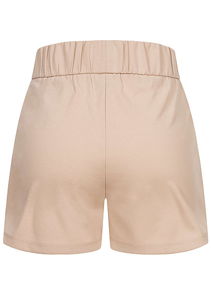 JDY by ONLY Damen NOOS Jersey Shorts mit elastischem Bund 2-Pockets chateau gray