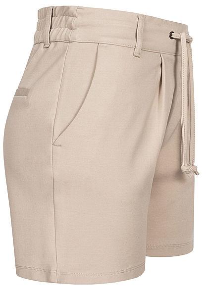 JDY by ONLY Damen NOOS Shorts 2-Pockets Tunnelzug chateau grau