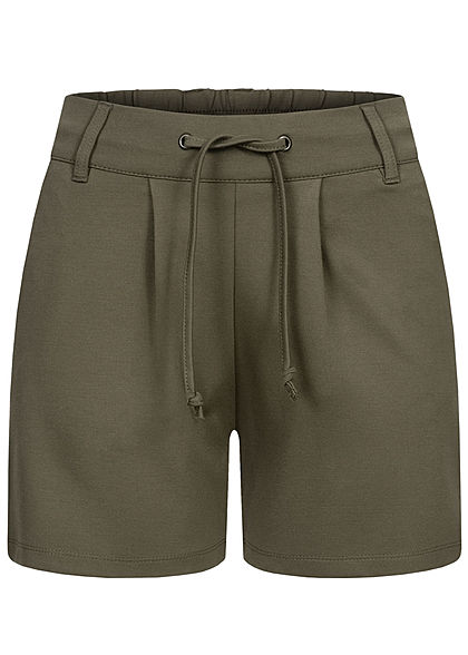 JDY by ONLY Damen NOOS Shorts 2-Pockets Tunnelzug kalamata oliv grün - Art.-Nr.: 21020635