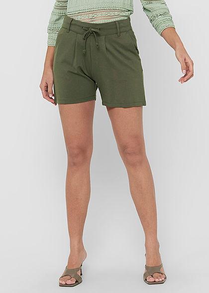 JDY by ONLY Damen NOOS Shorts 2-Pockets Tunnelzug kalamata oliv grün