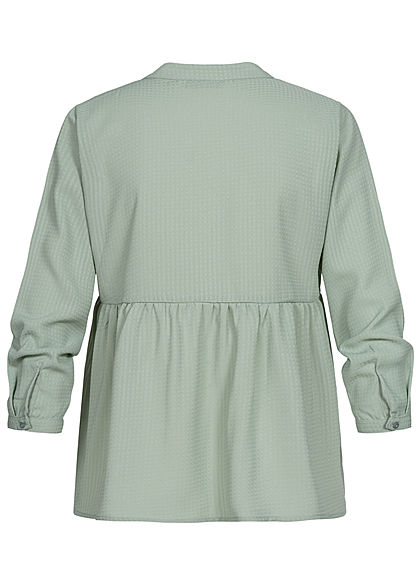 ONLY Damen NOOS 3/4-Arm V-Neck Bluse jadeite grün
