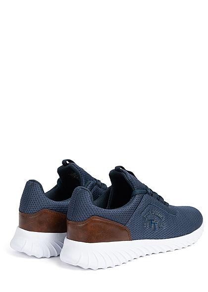 Tom Tailor Herren Schuh 2-Tone Mesh Sneaker zum schnüren navy blau braun