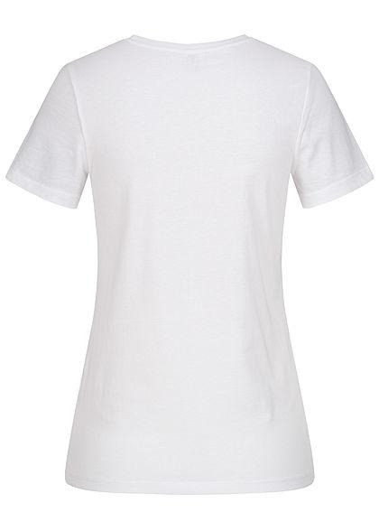 ONLY Damen T-Shirt Tiger Print Glory bright white metallic blau
