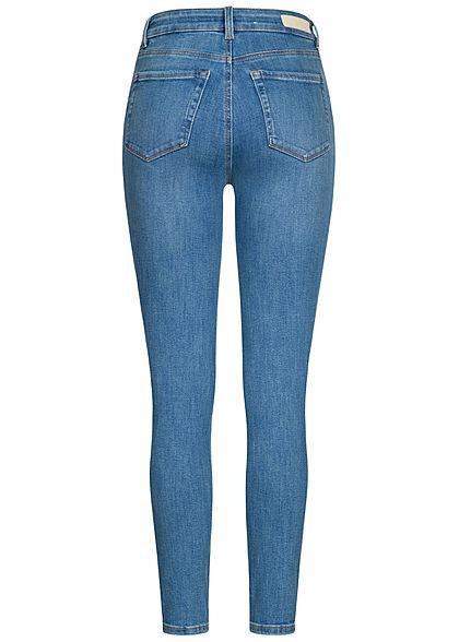 Tom Tailor Damen Ankle Extra Skinny Jeans Hose High-Waist 5-Pockets azur blau denim