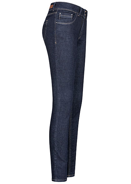 Tom Tailor Damen Extra Skinny Jeans Hose Low Waist 5-Pockets rinsed blau denim