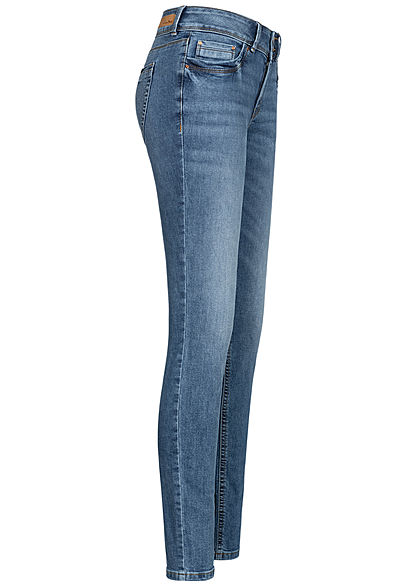 Tom Tailor Damen Extra Skinny Jeans Hose Low Waist 5-Pockets used stone hell blau