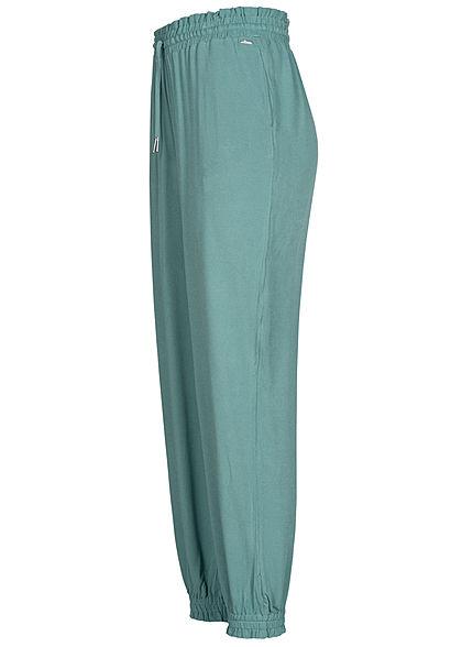 Tom Tailor Damen Harem Viskose Stoffhose mineral blau