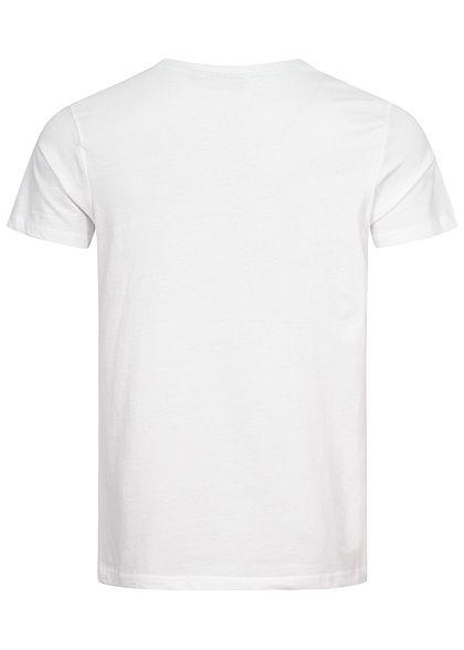 Eight2Nine Herren T-Shirt mit Logo Print weiss