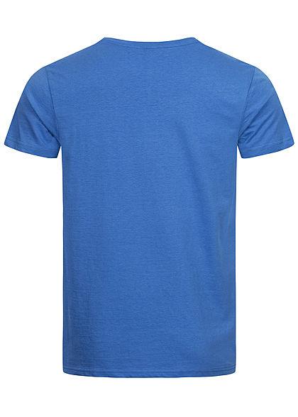 Eight2Nine Herren T-Shirt mit Logo Print soft ink blau