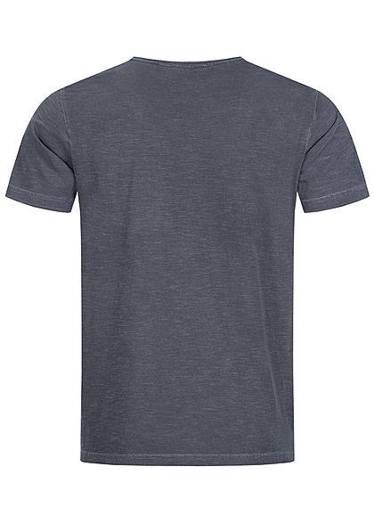 Hailys Herren Basic T-Shirt mit Brusttasche unicolor anthrazit dunkel grau