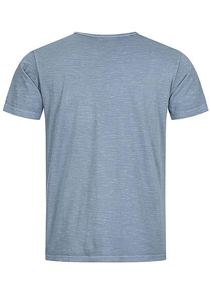 Hailys Herren Basic T-Shirt mit Brusttasche unicolor hell blau