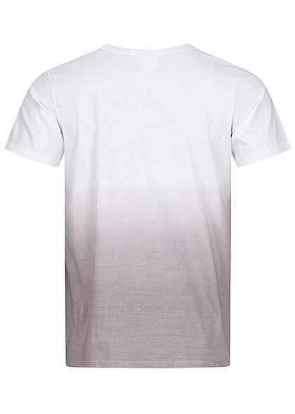 Hailys Herren Basic T-Shirt Tie Dye Farbverlauf Studio Essentials Print grau