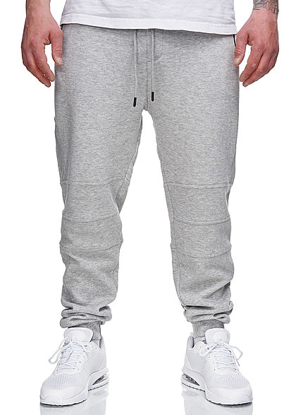 Hailys Herren Sweat Pants Jogginghose 4-Pockets hell grau melange