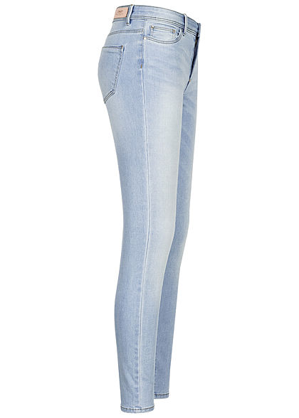 ONLY Damen Skinny Jeans Hose 5-Pockets Regular Waist special bright blau denim