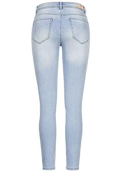 ONLY Damen Skinny Jeans Hose 5-Pockets Regular Waist special bright blau denim