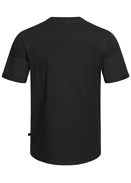 Hailys Herren Basic T-Shirt mit Brusttasche schwarz