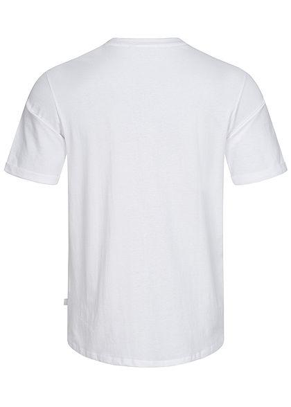 Hailys Herren Basic T-Shirt mit Brusttasche weiss