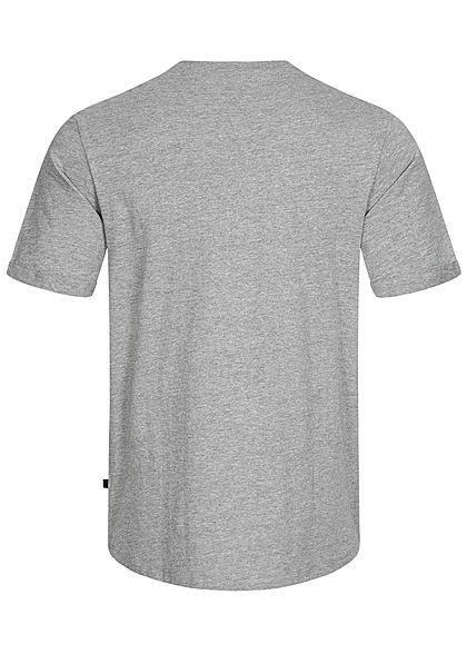Hailys Herren Basic T-Shirt mit Brusttasche grau melange