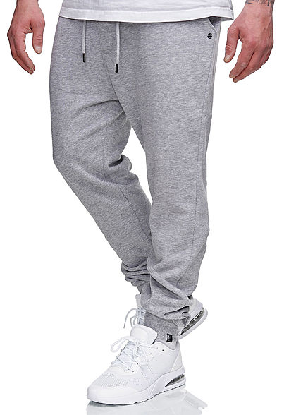 Hailys Herren Sweat Pants Jogginghose 3-Pockets hell grau melange