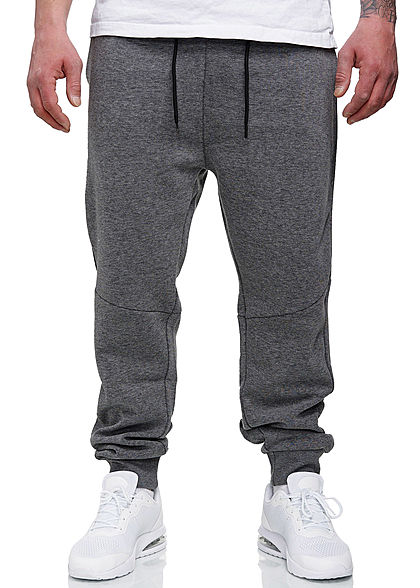 Hailys Herren Sweat Pants Jogginghose 3-Pockets grau melange