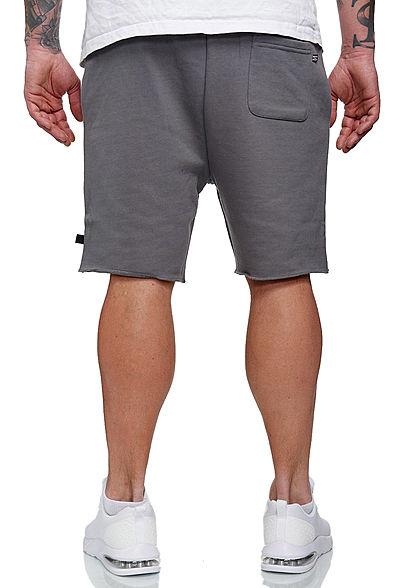 Hailys Herren Sweat Bermuda Shorts 3-Pockets anthrazit dunkel grau