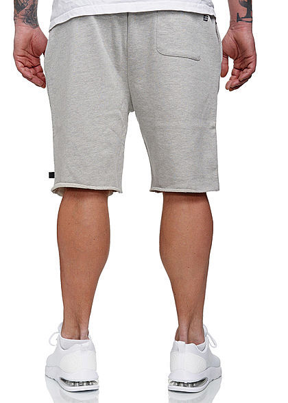 Hailys Herren Sweat Bermuda Shorts 3-Pockets hell grau