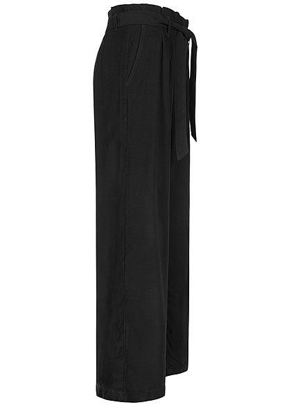 ONLY Damen Paperbag Culotte Stoffhose inkl. Bindegürtel 2-Pockets schwarz