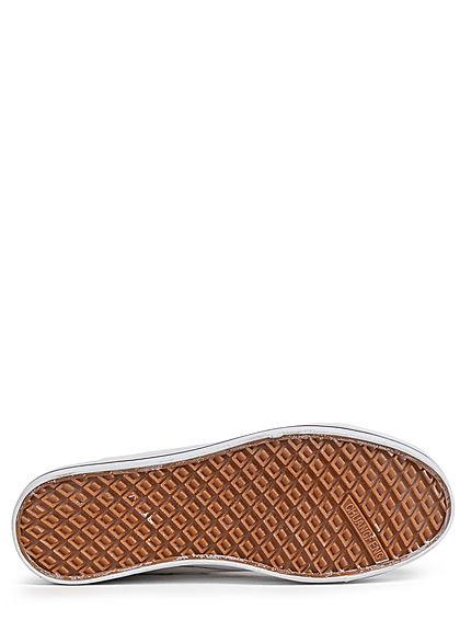 Seventyseven Lifestyle Damen Schuh Canvas Sneaker hohe Sohle 3,5cm weiss