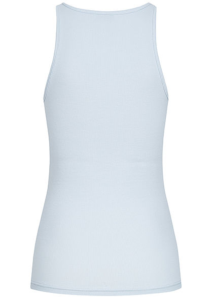 ONLY Damen NOOS Ribbed Tank Top cashmere blau