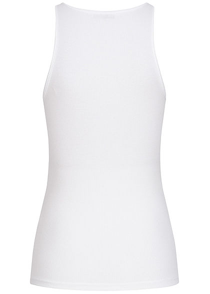 ONLY Damen NOOS Ribbed Tank Top weiss