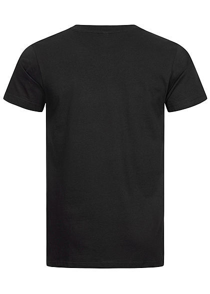 Mister Tee Herren T-Shirt Swipe Up Frau Print schwarz