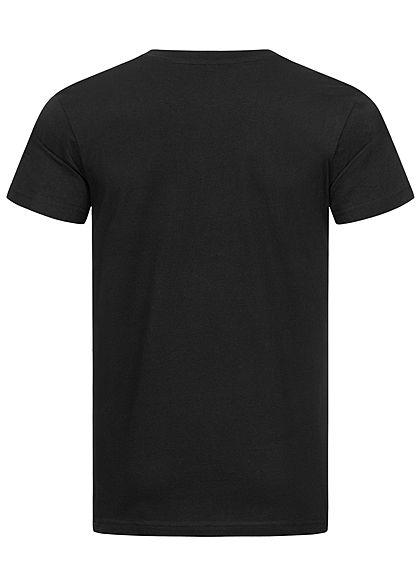 Mister Tee Herren T-Shirt Peace Sign Print schwarz