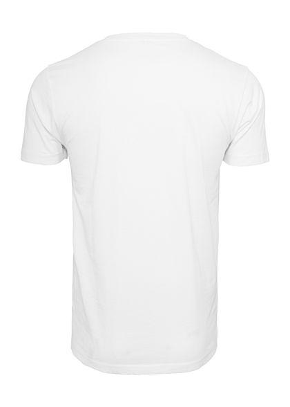 Mister Tee Herren T-Shirt Fast Food Meal Print weiss