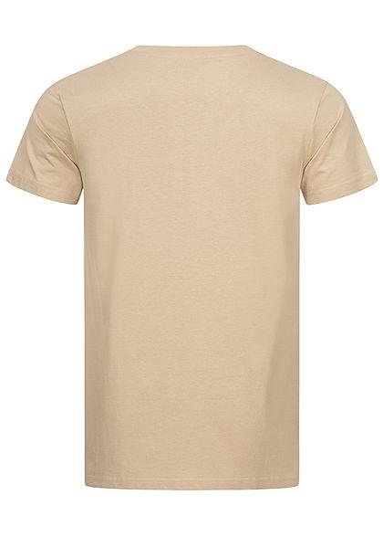 Mister Tee Herren T-Shirt Philly Sandwich Print sand beige