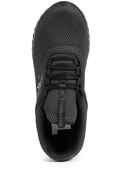Tom Tailor Herren Schuh Running Mesh Sneaker schwarz