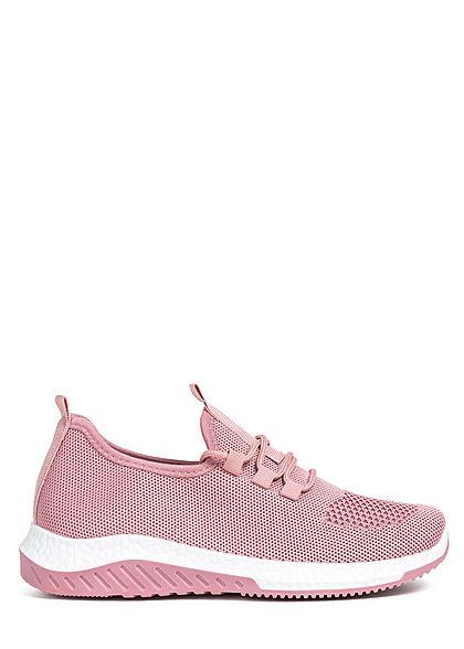Seventyseven Lifestyle Damen Schuh 2-Tone Running Sneaker zum schnüren old rose pink