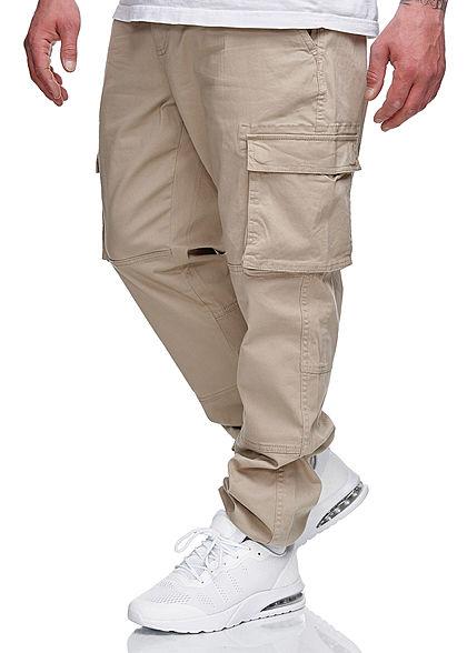 ONLY & SONS Herren Cargohose 6-Pockets Bündchen am Beinabschluss chinchilla beige