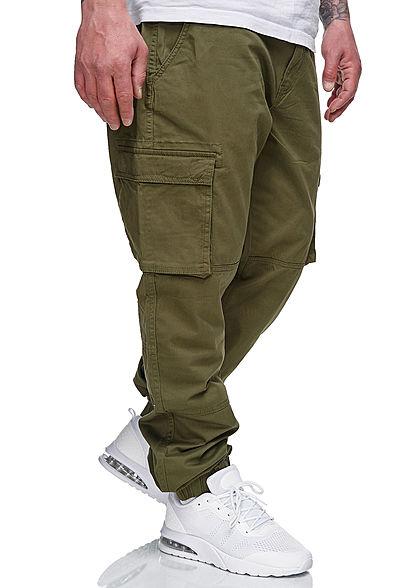 ONLY & SONS Herren Cargohose 6-Pockets Bündchen am Beinabschluss night oliv grün