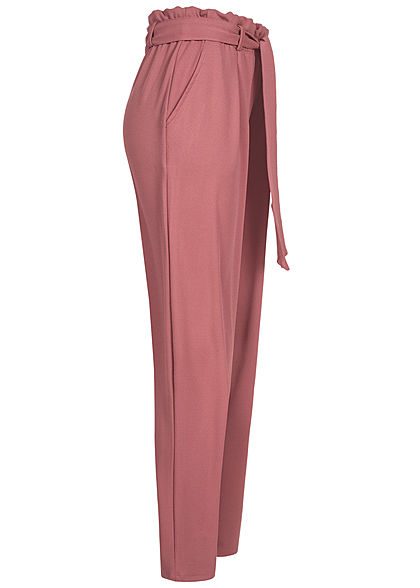 Eight2Nine Damen Sweat Hose inkl. Bindegürtel 2-Pockets mauve rosa
